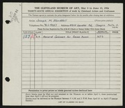 Entry card for Wooddell, Joseph M. for the 1954 May Show.