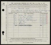 Entry card for Jameyson, Jeannette Allen for the 1955 May Show.