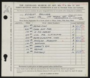 Entry card for Brucker, Edmund for the 1955 May Show.