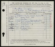 Entry card for Cunningham, Mary Phillips for the 1955 May Show.