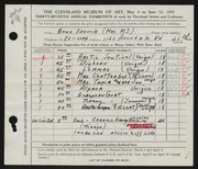 Entry card for Francis, Anna for the 1955 May Show.