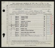 Entry card for Friedson, Herbert Harold for the 1955 May Show.