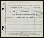 Entry card for Harvey, Blanche for the 1955 May Show.