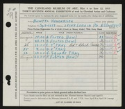 Entry card for Henderson, Buvetta F. for the 1955 May Show.