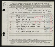 Entry card for Henning, Edward B. for the 1955 May Show.