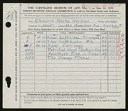 Entry card for Herman, Eleanore Marks for the 1955 May Show.