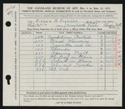 Entry card for Ingalls, Eileen B. for the 1955 May Show.