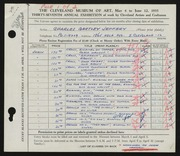 Entry card for Jeffery, Charles Bartley, and Wooddell, Joseph M. for the 1955 May Show.