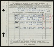 Entry card for Jicha, Joseph W. for the 1955 May Show.