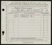 Entry card for McCullough, Joseph for the 1955 May Show.