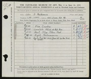 Entry card for MacKenzie, John D. for the 1955 May Show.