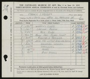 Entry card for Meyers, Francis J. for the 1955 May Show.