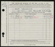 Entry card for Mieczkowski, Ed for the 1955 May Show.