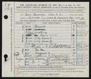 Entry card for Morrison, Doris C. for the 1955 May Show.
