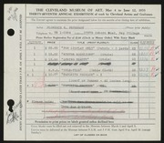 Entry card for Peterson, Florence N. for the 1955 May Show.