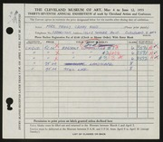Entry card for Rood, Peggy Crosby for the 1955 May Show.