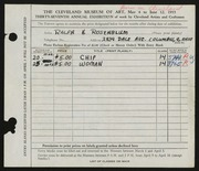 Entry card for Rosenblum, Ralph H. for the 1955 May Show.