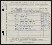 Entry card for Rosin, Ira for the 1955 May Show.