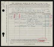 Entry card for Samolar, Esther R. for the 1955 May Show.