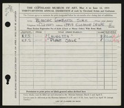 Entry card for Sims, Blanche for the 1955 May Show.