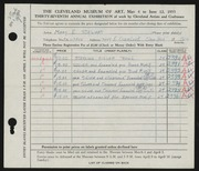 Entry card for Stewart, Mary E. for the 1955 May Show.