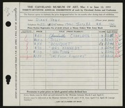 Entry card for Vago-Dixon, Diane for the 1955 May Show.