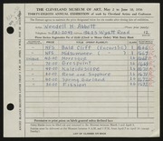Entry card for Abbott, Wendell H. for the 1956 May Show.