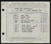 Entry card for Dubaniewicz, Peter Paul for the 1956 May Show.