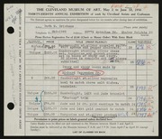 Entry card for Erickson, Ruth M., and Tappenden, Richard, Jr. for the 1956 May Show.