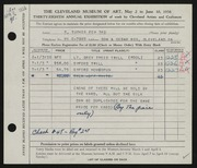 Entry card for Fox, S. Tucker, III for the 1956 May Show.