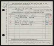 Entry card for Hewitt, Mabel H. for the 1956 May Show.