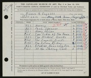 Entry card for Ingalls, Eileen B. for the 1956 May Show.
