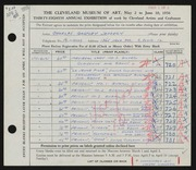 Entry card for Jeffery, Charles Bartley, and Wooddell, Joseph M. for the 1956 May Show.