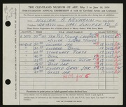 Entry card for Neumann, William A. for the 1956 May Show.