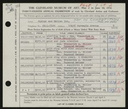 Entry card for Potter and Mellen , and Miller, Frederick Anson; Hallqvist, Solve Carl; Weiser, Raymond T.; Johnson, James for the 1956 May Show.