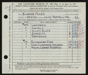 Entry card for Miles, Eugene R. for the 1957 May Show.