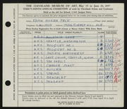Entry card for Peck, Edith Hogen for the 1957 May Show.