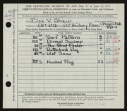 Entry card for Shaw, Elsa Vick for the 1957 May Show.