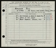 Entry card for Sill, Edward for the 1957 May Show.