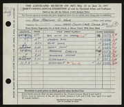 Entry card for Weir, Marlene G. for the 1957 May Show.