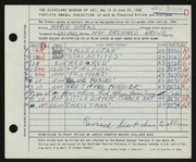 Entry card for Daras, Marie for the 1958 May Show.