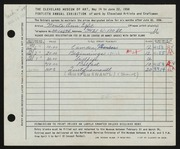 Entry card for Eglet, Norita Ann for the 1958 May Show.