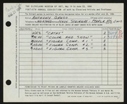 Entry card for Greco, Anthony Joseph for the 1958 May Show.