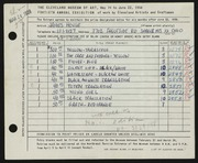 Entry card for House, James for the 1958 May Show.