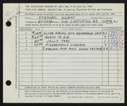 Entry card for Knapp, Stephen for the 1958 May Show.