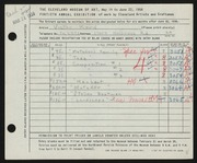 Entry card for Kord, Victor for the 1958 May Show.