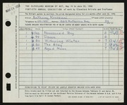 Entry card for Krasznai, Anthony for the 1958 May Show.