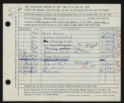 Entry card for Kussoy, Bernice for the 1958 May Show.