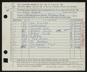 Entry card for Leach, Frederick Bennet for the 1958 May Show.