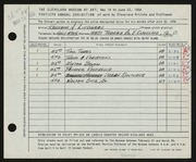 Entry card for Lindgren, Kenneth Alfred for the 1958 May Show.